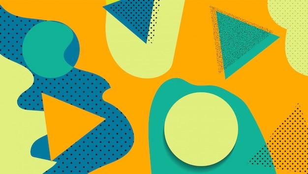 Sfondo di forme geometriche astratte in stile astratto. astratto futuristico
