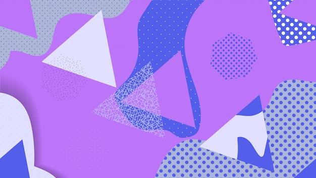Sfondo di forme geometriche astratte in stile astratto.