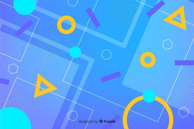 Sfondo di forme geometriche astratte