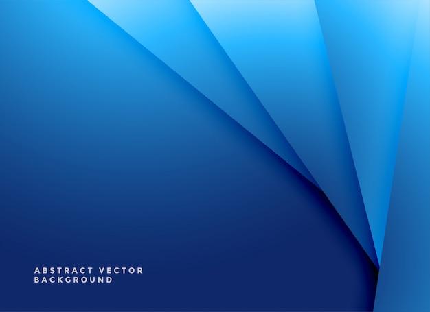 Sfondo di forme geometriche blu minimo
