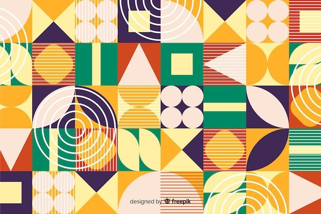 Sfondo di forme geometriche colorate piatte