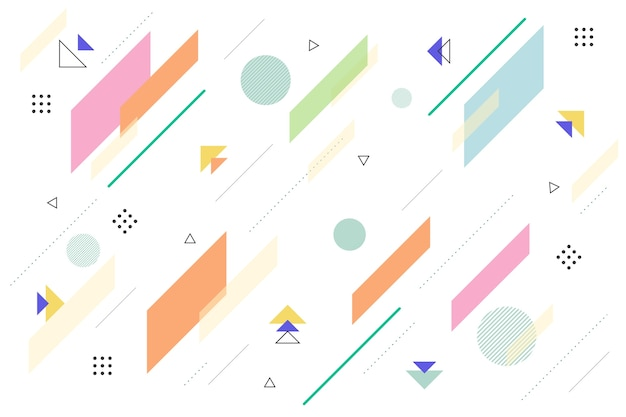 Sfondo di forme geometriche design piatto