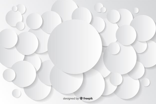 Sfondo di forme geometriche in stile carta