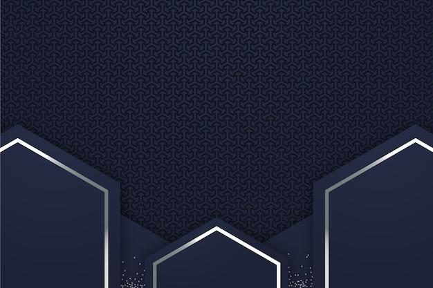 Sfondo di forme geometriche in stile realistico