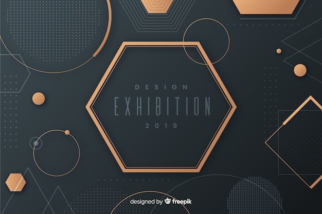 Sfondo di forme geometriche moderne in design piatto