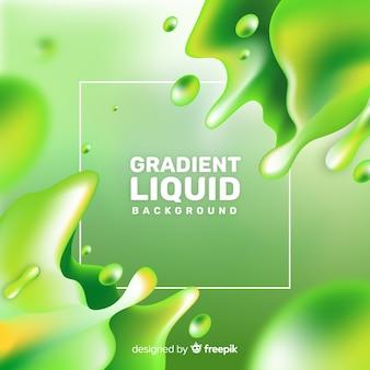 Sfondo di forme liquide realistiche
