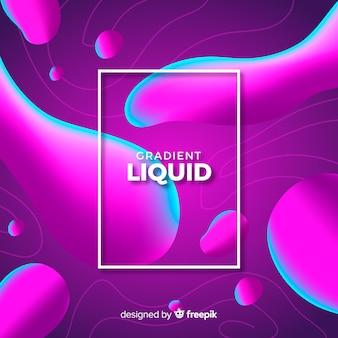 Sfondo di forme liquide sfumate