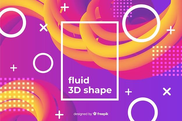 Sfondo di forme liquide