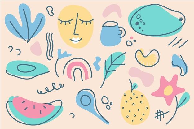 Sfondo di forme organiche astratte disegnate a mano