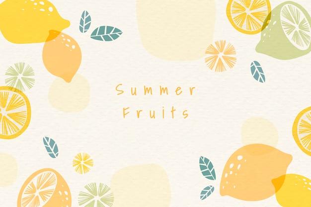Sfondo di frutti estivi