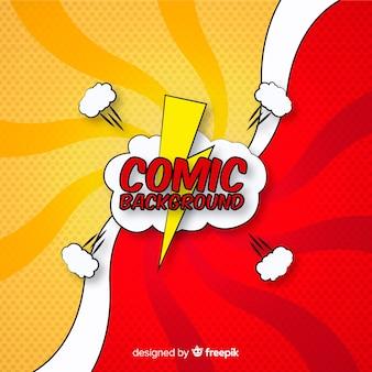 Sfondo di fumetti o supereroi in stile mezzetinte