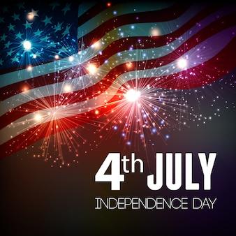 Sfondo di fuochi d'artificio per il 4 luglio