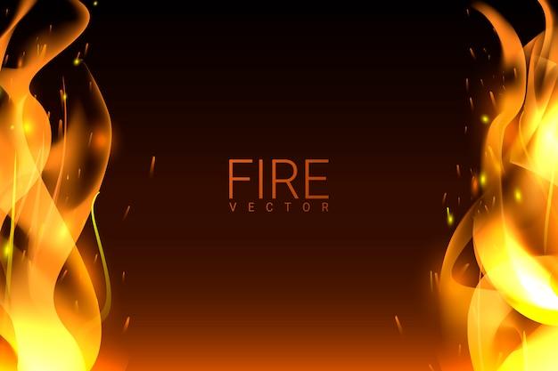 Sfondo di fuoco ardente
