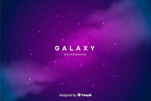 Sfondo di galassia astratta scuro realistico