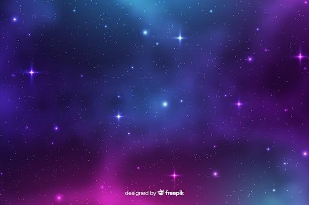 Sfondo di galassie di particelle