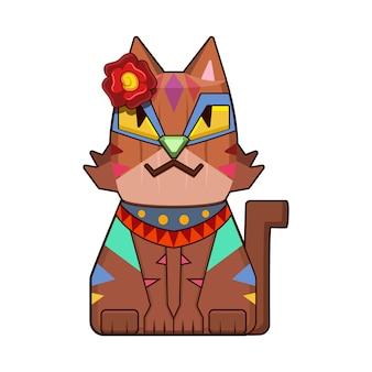 Sfondo di gatto in legno
