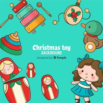 Sfondo di giocattoli di natale