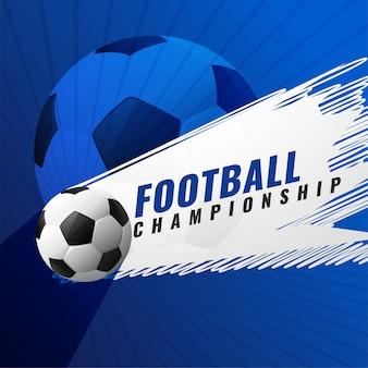Sfondo di gioco di calcio campionato torneo