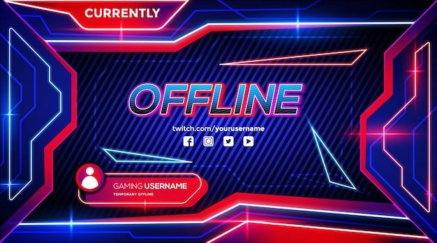 Sfondo di gioco futuristico astratto per flusso di contrazione offline