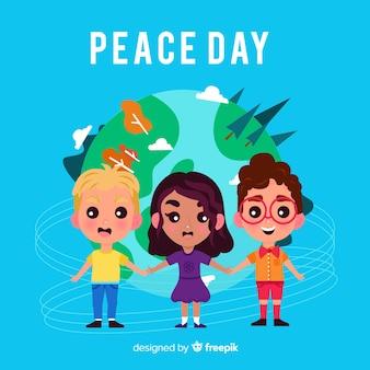 Sfondo di giornata internazionale della pace con i bambini