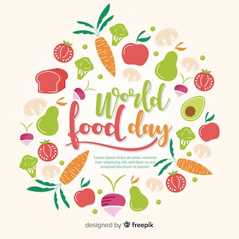 Sfondo di giornata mondiale del cibo