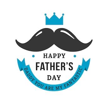 Sfondo di giorno del padre con i baffi