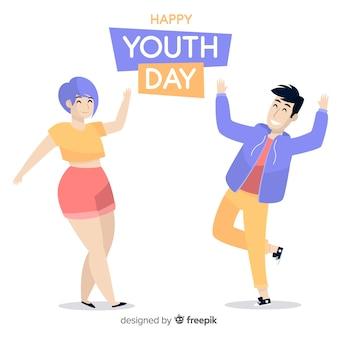 Sfondo di giorno della gioventù disegnati a mano