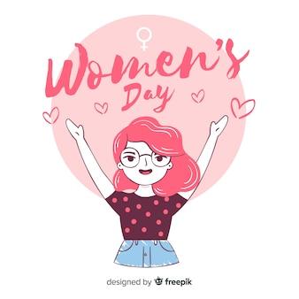 Sfondo di giorno delle donne disegnati a mano
