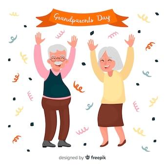 Sfondo di giorno di nonni creativi