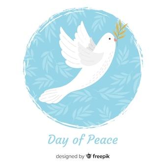 Sfondo di giorno di pace con colomba