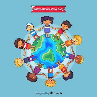 Sfondo di giorno di pace con i bambini