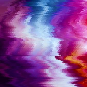 Sfondo di glitch vettoriale. distorsione dei dati dell'immagine digitale. sfondo colorato astratto per i tuoi disegni. estetica caotica dell'errore di segnale. decadimento digitale.
