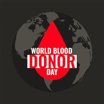 Sfondo di goccia di sangue per la giornata mondiale dei donatori di sangue
