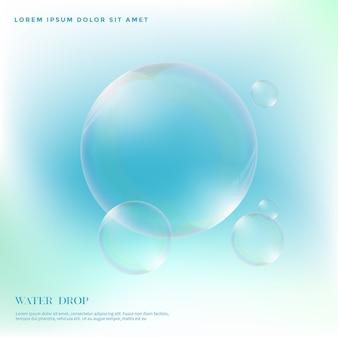 Sfondo di goccioline di acqua trasparente e colorato
