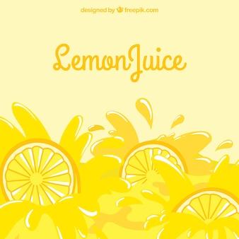 Sfondo di gustosi limonata