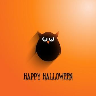 Sfondo di Halloween con gufo male