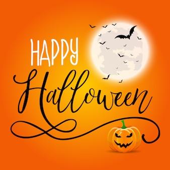 Sfondo di halloween con testo decorativo