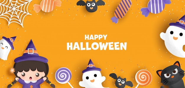 Sfondo di halloween felice.