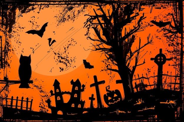 Sfondo di halloween grunge