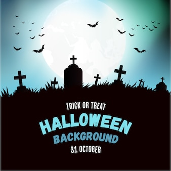 Sfondo di halloween moderno