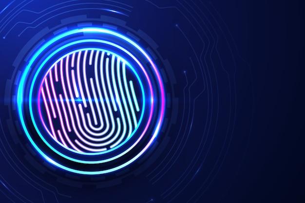 Sfondo di impronte digitali al neon colorato