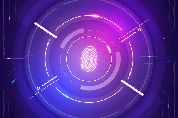 Sfondo di impronte digitali al neon