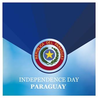 Sfondo di indipendenza giorno del paraguay