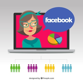Sfondo di influencer di facebook