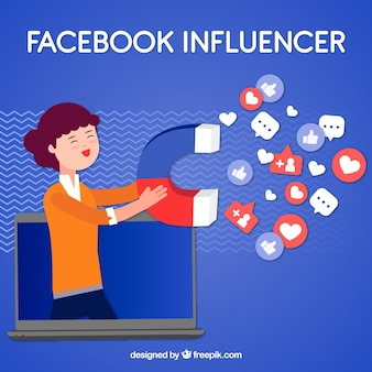 Sfondo di influencer di facebook