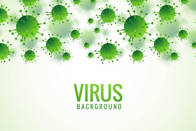 Sfondo di influenza di batteri o virus