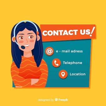 Sfondo di informazioni piatte call center