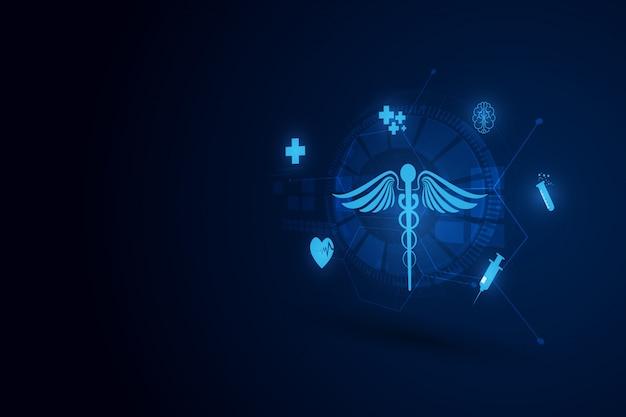Sfondo di innovazione tecnologia medica