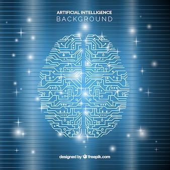 Sfondo di intelligenza artificiale in stile astratto