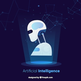 Sfondo di intelligenza artificiale in stile astratto